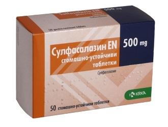 Гастрит и сульфасалазин