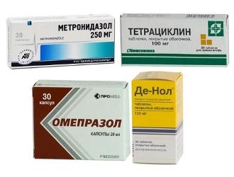 Лечение хеликобактер пилори в обязательном порядке предполагает прием антибиотиков.